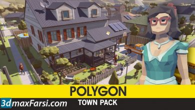 Cgtrader – POLYGON – Town Pack Low-poly 3D model free download