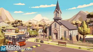 cgtrader polygon city pack low-poly and complete