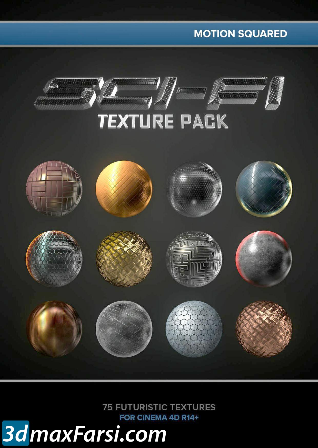 Motion Squared-Sci-Fi Texture Pack 1.1 for Cinema 4D free download