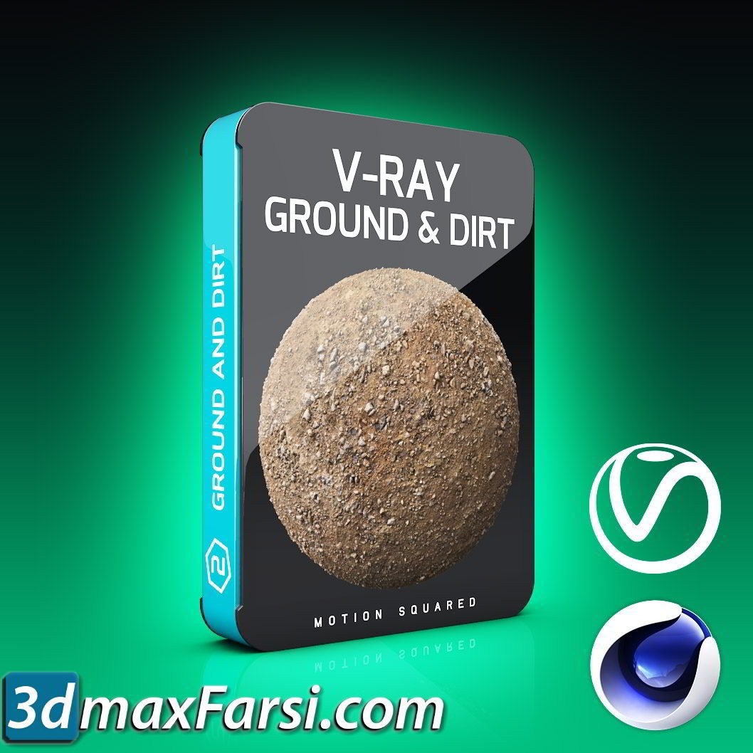 Motion Squared – V-Ray Ground and Dirt Texture Pack for Cinema 4D free download