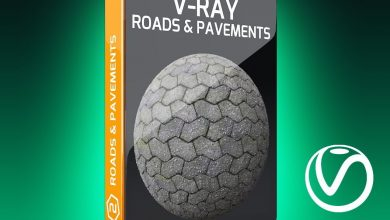 Motion Squared – V-Ray Roads and Pavements Texture Pack for Cinema 4D free download
