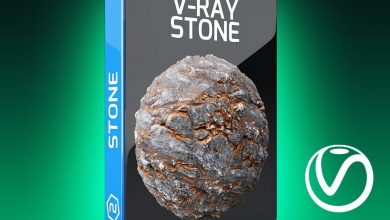 Motion Squared – V-Ray Stone Texture Pack for Cinema 4D free download